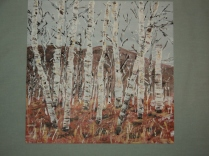 Birches Acrylic Size 11 X 12 inches $195