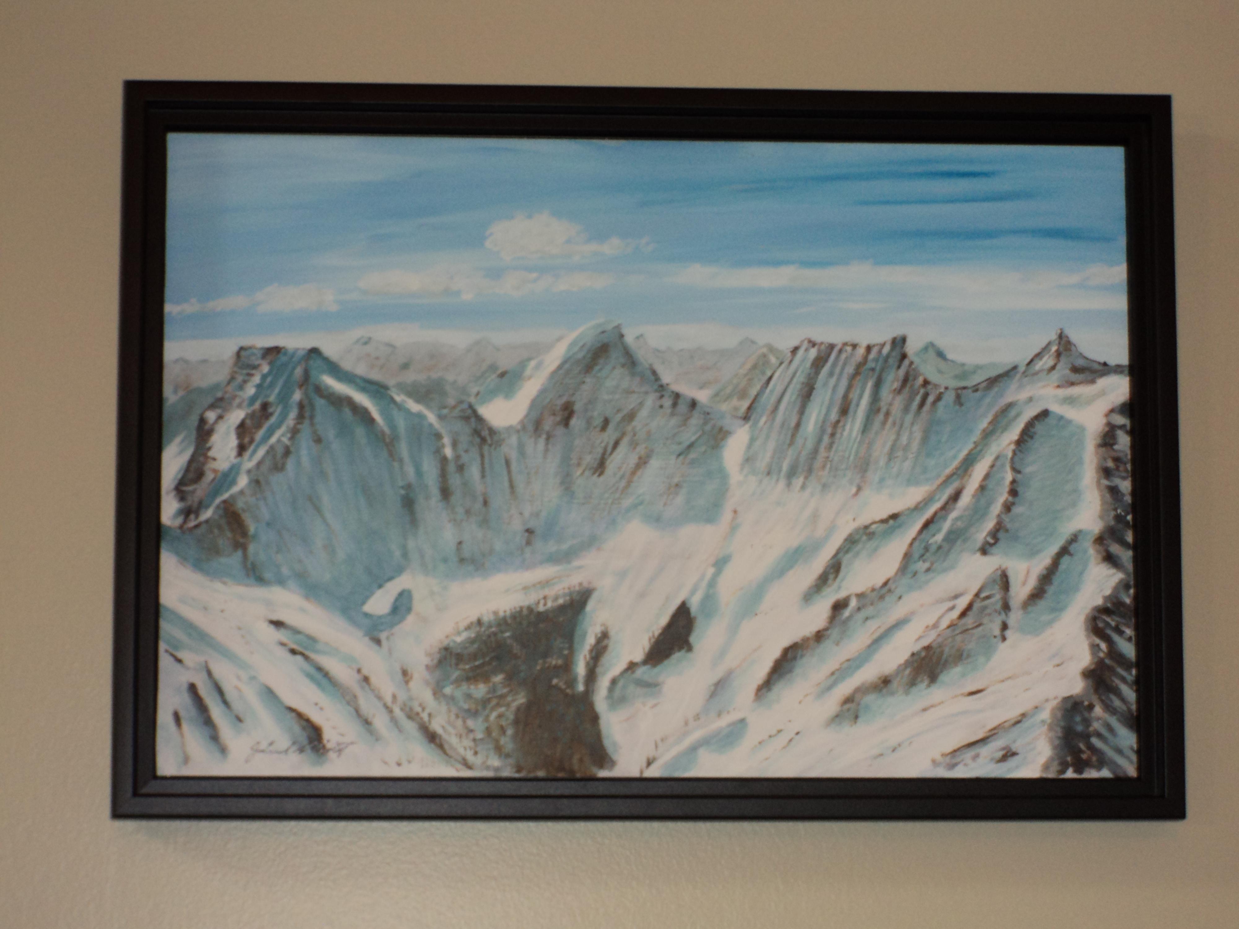 Glacier Acrylic 12 X 18 inches $375 | Abbott Fine Art