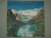 Lake Louise Acrylic 14 X 16 $225