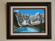 Moraine Lake Acrylic Size 9 X 12 inches $195