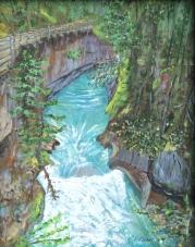 Johnston Canyon Acrylic, 14x11 $275