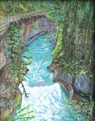 Johnston Canyon Acrylic, 14x11 $275