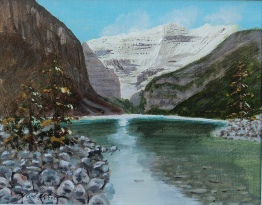 Lake Louise, Acrylic, 8x10, $225