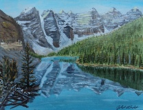 Moraine Lake 4 and the Valley of 10 Peaks, Acrylic, 8x10, $250