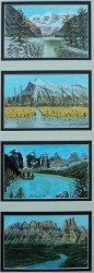 Quad Louise,Rundle Moraine,Castle Mt, Acrylic, each 4x6 $$300