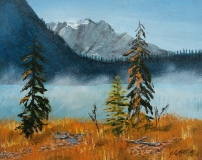 Emerald Lake 7, Acrylic, 8x10, $250