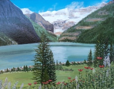Lake Louise 9, Acrylic, 14x18, $750