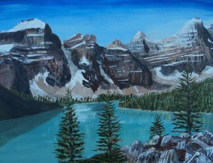 Moraine Lake 5, Acrylic, 8x10, $250