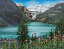 Lake Louise10, Acrylic, 11x14, $460, #16021