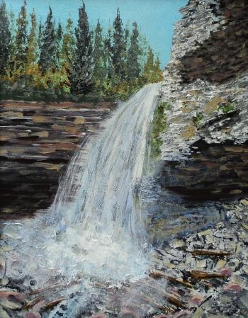Troll Falls, Kananaskis, Acrylic11x14, $460, #15011