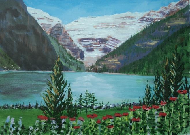 Lake Louise 10, Acrylic, 9x12, $300, #16033