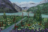 Lake Louise 12, #16042, $90, Acrylic, 5x7