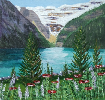 Lake Louise 13, #16043, $275, Acrylic (9x10)