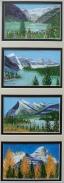 Louise,Moraine,Rundle,Assiniboine, Acrylic, 4x6x4, $295 #16038