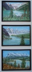 Memories of Western Canada, Triplet, Acrylic, $295, #16039