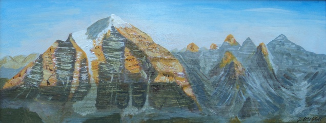 Mount Temple, #16041, $495, Acrylic, 8x20,