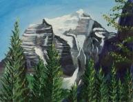 Mt. Temple, Acrylic, 8x10, $250, #16040