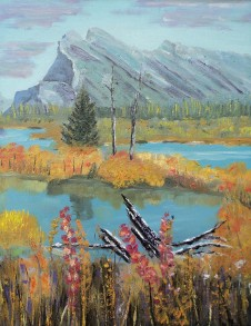 mt-rundle-in-the-fall-16027-460-oil-11x14