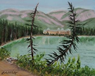 Chateau Lake Lake Louise, #17015, $250, Acrylic, 8x10