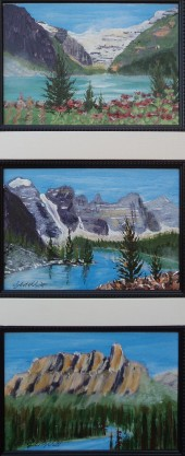 Memories of Western Canada 2, #17012, $295, Acrylic, Triplet