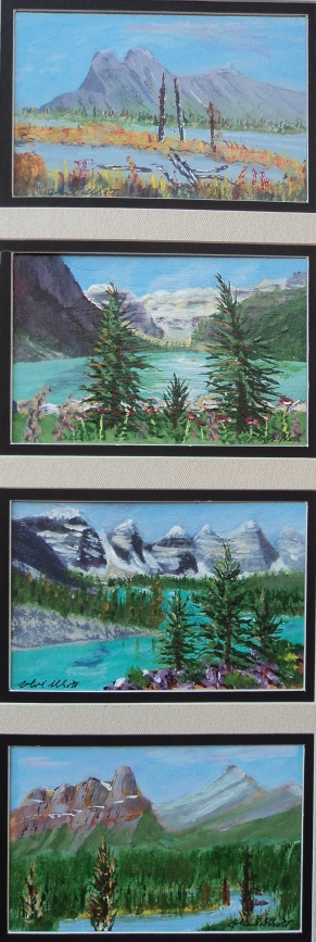 Memories of Western Canada 4, #17001, $295, Acrylic, Quad