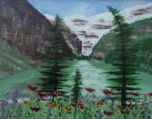 Lake Louise 21, #17026, $250, Acrylic, 8x10