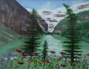 Lake Louise 21, #17026, $250, Acrylic, 8x10
