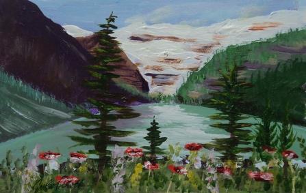 Lake Louise 22, #17027, $125, Acrylic, 5x8
