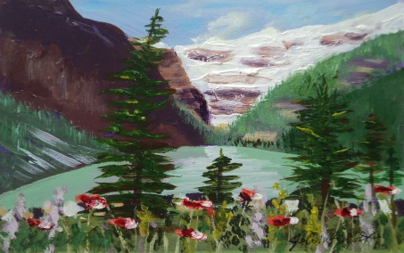 Lake Louise 23, #17029, $125, Acrylic, 5x8