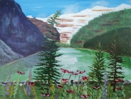Lake Louise 24, #17034, $350, Acrylic, 10x12