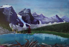 Magnificent Moraine 3, #17033, $195, Acrylic 8x6
