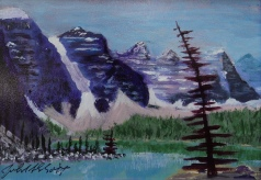 Magnificent Moraine 4, #17040, $120, Acrylic, 4.5x6.5