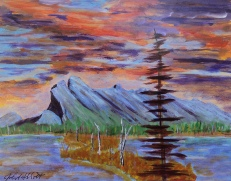 Rocky Mountain Spectacle, #17038, $250, Acrylic, 8x10