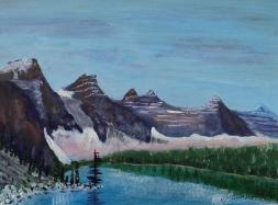 Magnificent Moraine 5, 17046, $150, Acrylic, 6x8