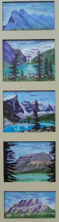 Memories of Western Canada 9, #17055, $295, Acrylic, Quin