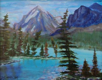 Rocky Mountain Grandeur, #17053, $250, Acrylic, 8x10