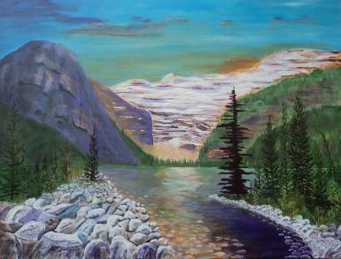 Sunset Louise, #17044, $2995, Acrylic, 30x40