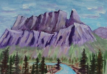 Castle Mountain 6, #17058, $120, Acrylic, 4.5x6.6