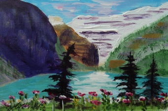 Lake Louise 31, #17061, $75, Acrylic, 3.5x5.5