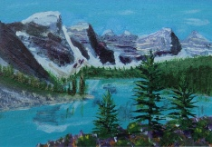 Moraine Lake 10, #16071, $120, Acrylic, 4.5x6.5