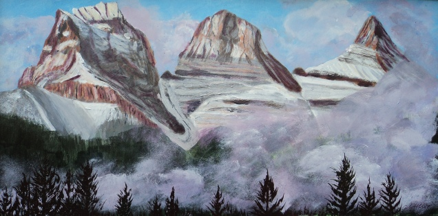 Three Sisters, #16046, $700, Acrylic, 12x24