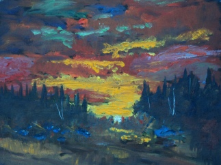 Manic Sky, #17070, $460, Oil, 11x14