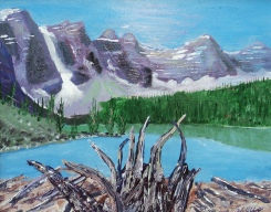 Moraine Lake 7, #16054, $250, Acrylic, 8x10