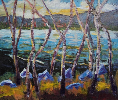 Enchanted Evening, #17075, $460, Acrylic, 10x12