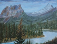 Castle Mountain, #16012, $250, Acrylic, 8x10