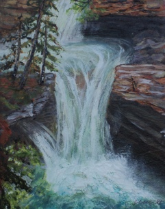 Johnston Canyon, #15021, $250, Acrylic, 8x10