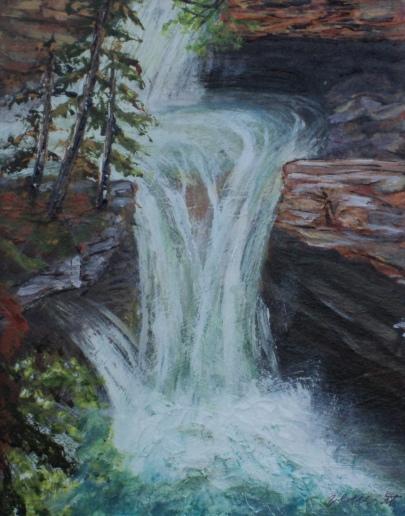 Johnston Canyon, #15021, $250, Acrylic, 8x10
