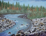 Kananaskis River, # 16017, $750, Acrylic, 16x20