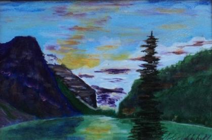 Lake Louise 28, #17045, $120, Acrylic, 4.5x6.5