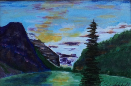 Lake Louise 28, #17045, $120, Acrylic, 4.5x6.5